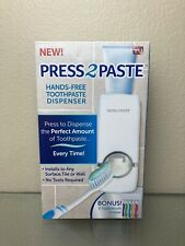 PRESS 2 PASTE HANDS-FREE TOOTHPASTE DISPENSER & BONUS 5 TOOTH BRUSH HOLDER