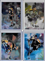 Bobby Orr Boston Bruins Artist Signed Limited Edition Prints 4 Card Lot 49 of 50