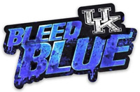 "University of Kentucky Wildcats  ""Bleed Blue"" with UK Logo Magnet"