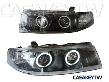 1998-2001 Lancer Evolution Evo V VI 5 6 CCFL Pro Black Head Light  98 99 00 01