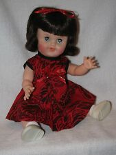 """Cute Vintage 12"""" Baby Doll With Black Hair"""