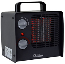 Electric Ceramic Space Heater Fan With Thermostat Portable Indoor Personal 1500w