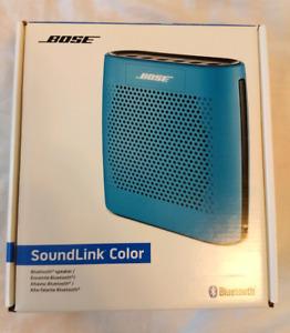 Bose SoundLink Color Bluetooth Speaker - Blue First Gen - Opened - Unused