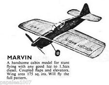 "Model Airplane Plans (UC): Mercury Marvin 30"" for .06-.09ci (1-1.5cc) Engine"