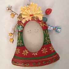 "Multi 4X5.5"" Two'S Company Bell Figurine Ornament Frame Holds 2x3"" photo"