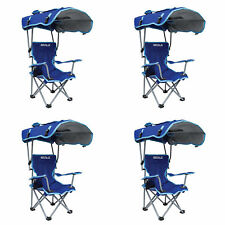 Kelsyus Kids Original Canopy Folding Backpack Lounge Chair, Blue (4 Pack)