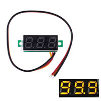 3-Wire mini DC 0-100V voltmeter LED panel 3-digital display voltage  O Jf