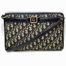 Christian Dior Shoulder Bag  Navy Blue Canvas 1801705