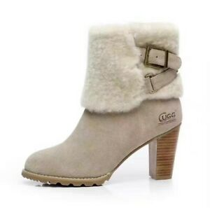 CLEARANCE Tasman Heel Winter Boots Premium Sheepskin -COMFORT & WARM