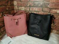 NWT Michael Kors Nicole Pebbled leather Bucket Bag
