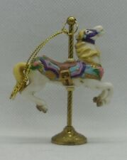 The Petite Carousel By Willitts Carousel Memories Horse On Brass Stand 05047