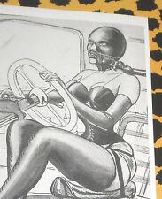Eric STANTON Fetisch Kult Erotik Postkarte Akt Bdsm Kunst Zeichnung Lack Bondage