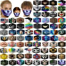 Unisex Reusable Washable Facemask Half Face Mouth Funny Face  nose clip +Filter