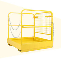 """36""""x36"""" Heavy Duty Forklift Safety Cage Steel Work Platform 749 lbs Capacity"""