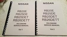 NISSAN R33 SKYLINE ENGINE MANUAL RB20E RB25DE RB25DET RB26DETT