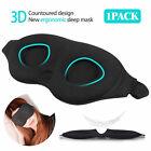 Travel Sleep Eye Mask 3D Memory Foam Padded Shade Relax Sleeping Blindfold Plugs