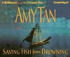 SAVING FISH FROM DROWNING unabridged audio book on CD by AMY TAN