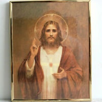 Sacred Heart of Jesus Plaque Catholic Church Art Wall Charles Chambers