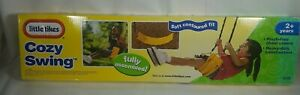 New Little Tikes Cozy Yellow Swing Fully Assembled Soft Contoured Fit See Pics!