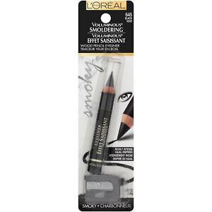 LOreal Paris Eye Makeup Voluminous Smoldering Eyeliner Pencil Black