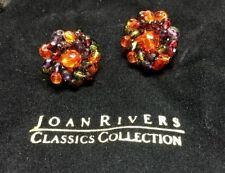 Fabulous Earrings Classics of The JOAN RIVERS Glass And Gold 14 KT