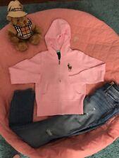 Nuevos, geniales Ralph Lauren punto chaqueta/Jersey Hoodie talla M/8-10 j.np85 € rosa