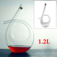 1.2L 6 Shape Wine Decanter Lead-free Crystal Glass Mouth-blown Design Durable US
