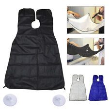 Men Beard Shave Apron Whiskers Bib Facial Hair Trimming Catcher Cape Gather Care