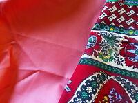 3m,20x0,40 coton satiné rose parme clair et nappe carrée style provençal 97x97cm