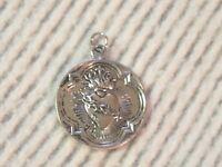 Sacred Heart Medal Silver Tone Catholic Pendant Coeur Sacre Unknown Vintage NICE