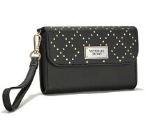 NWT Victoria's Secret Beauty Black Studded Tech Wristlet