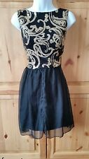 LOVE MILLY SIZE 12 GOLD BLACK PROM COCKTAIL CRUISE EVENING DRESS FORMAL