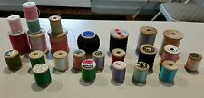 25 wooden spools of thread Wood and silk J & P  Coat's & Clarks Talon Star
