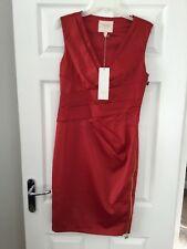 BNWT Lipsy VIP red v neck shift Dress Size 12 Rrp £85