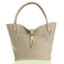 New Dooney & Bourke Natural Florentine  Logo Lock Tote Light Taupe  Handbag
