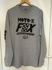 Fox Charged L/S T-Shirt - Grey - Size L - NEW