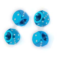 4 Premium Metal Blue Dice Tire/Wheel Air Stem Valve Caps for Car-Truck-Hot Rod