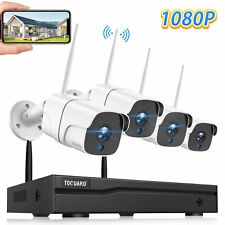 WiFi 8CH 1080P CCTV Security Camera System Home Wireless Outdoor Night Vision UK