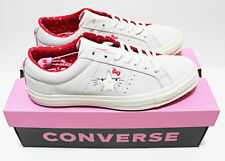 NIB RARE! CONVERSE X HELLO KITTY MEN'S SIZE 10 ONE-STAR GRAY/RED SUEDE LOW TOP