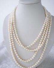 Vente chaude!Mode,160 cm, eau douce, réel nature perle, long collier, 7mm