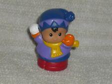 Fisher Price Little People Rare Hispanic Christmas Winter Boy Snow Snowball