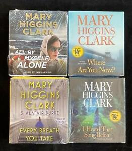 Wholesale Lot 4 New Fiction Audiobooks on CD by Mary Higgins Clark Every Breath