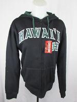 Hawaii Rainbow Warriors Women Full Zip Black Hoodie NCAA Size XS S L 2XL 3XL