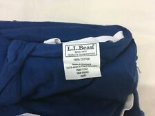 LL BEAN Flannel Duvet King Navy Blue Made in Germany Comforter Cover