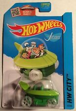 Hot Wheels The Jetsons Green 1:64 Capsule Car HW City 57/250 Mattel 2013 New