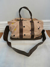 MARNI material/ brown leather polka dot print shoulder bag