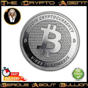 Bitcoin - BTC - 1oz Silver Bullion Round