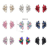 1 Pair Fashion Women Crystal Rhinestone Ear Stud Drop Dangle Earrings Jewelry