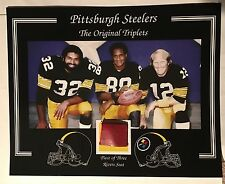 ORIGINAL TRIPLETS HARRIS BRADSHAW SWANN STEELERS 3 RIVERS STADIUM SEAT 8 X 10