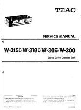 TEAC Service Manual per w-315c/w-310c/w-305/w-300